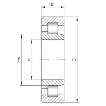 80 mm x 140 mm x 33 mm  ISO NJ2216 cylindrical roller bearings